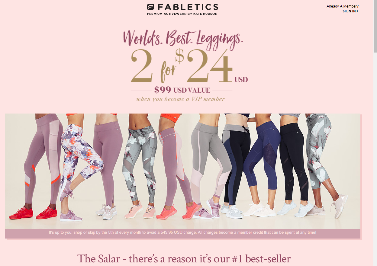Expired Fabletics Canada Coupons