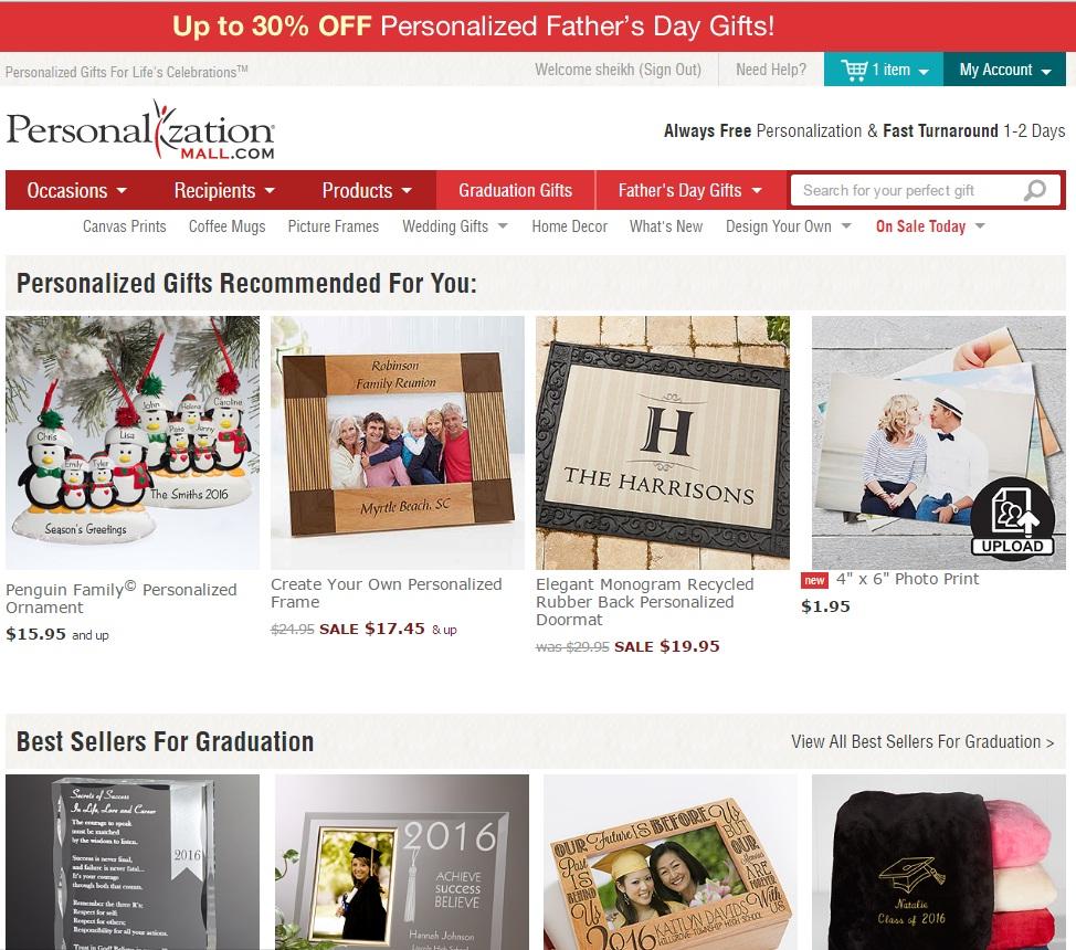 personalization mall discount code