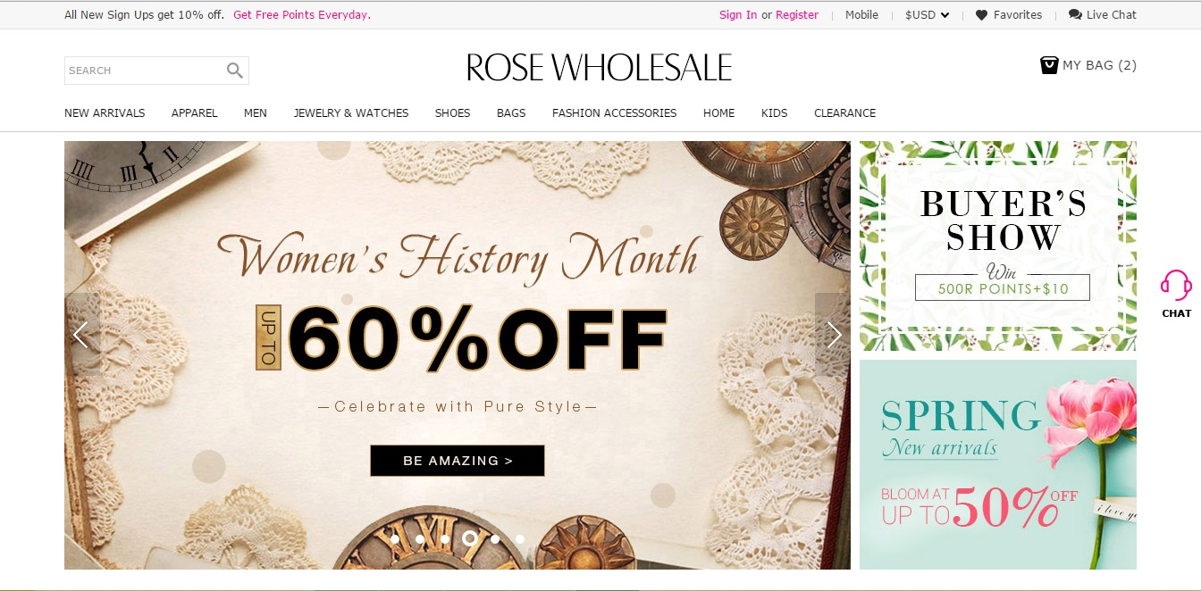 Rosewholesale is a leading international online fashion clothing store. Focusing on the very latest in affordable fashion style, both attire and accessories, Rosewholesale provides thousands of the latest in chic product lines, to give maximum choice to our discerning clientele.