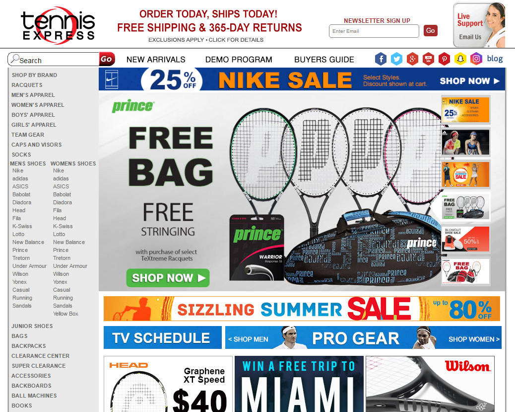 Get Tennis Express Coupons And Promo Code At Discountspout Com