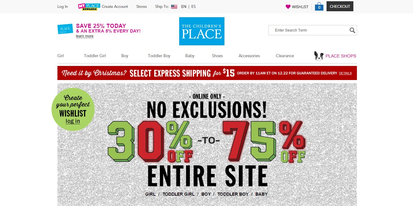 Childrens place coupons codes