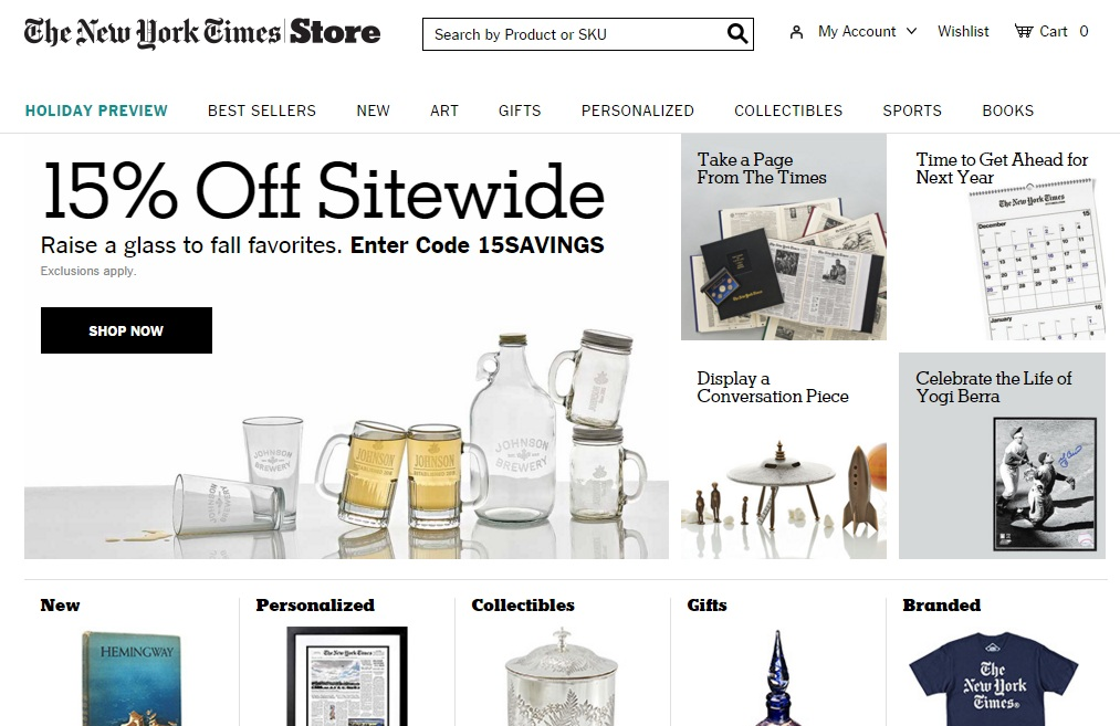 The official store of New York Times Store Coupon Codes offers the best prices on Site and more. This page contains a list of all New York Times Store Coupon Codes Store coupon codes that are available on New York Times Store Coupon Codes store.